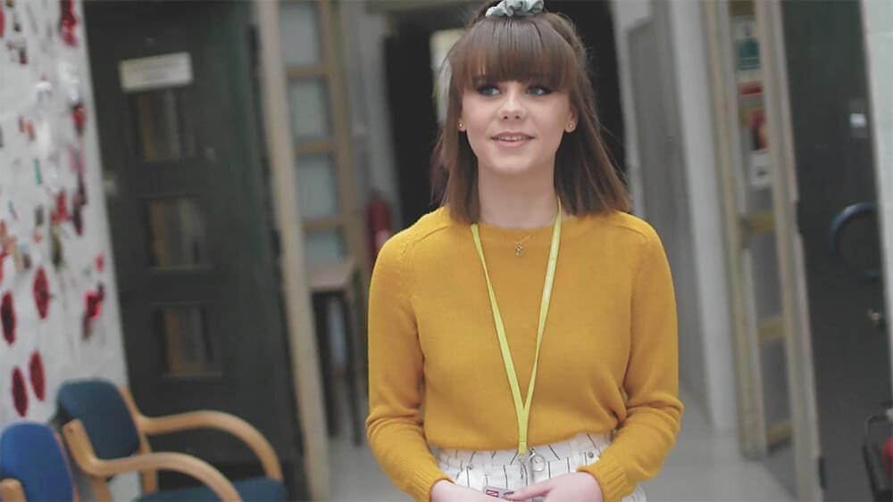 Learner in yellow jumper